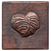 Banana Leaf 4&quot; x 4&quot; Copper Tile