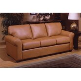 West Point Leather Queen Sleeper Sofa