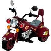 Lil' Rider Maroon Marauder Motorcycle with Three Wheeler