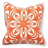 Bohemian Chic Flower Burst Pillow in Orange