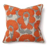 African Mod Leopard Print Pillow in Orange
