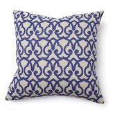 Full Bloom London Print Pillow in Blue