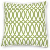 Green Fields Geo Pillow in Green Cotton