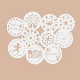 Ten Piece Cake Stencil Set