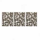 Arbera Wall Art in Bronze (Set of 3)