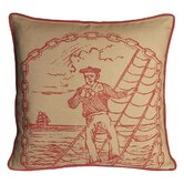 Salty Dog Decorative Pillow in Coral Sand