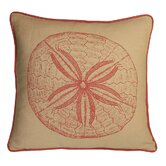 Sand Dollar Decorative Pillow in Coral Sand