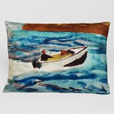 Speed Boat Decorative Pillow