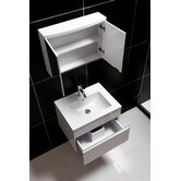 Wall-Mounted Modern Bathroom Vanity Set