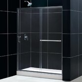 Infinity Plus Sliding Shower Door and Amazon Shower Base with Left Drain
