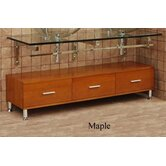 Modern Glass Vanity Clear Horizon Three-Drawer Bathroom Cabinet