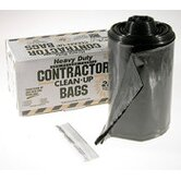 Contractor 42 Gallon Clean Up Bags in Black (20 Count)