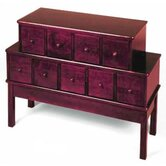 Library Style 9 Drawer Multimedia Cabinet