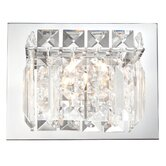 Crown One Light Wall Sconce in Chrome