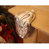 Dali Melting Clock in Silver