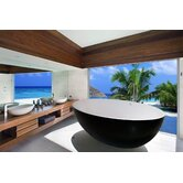 PureScape Ovatus Freestanding AquaStone Bathtub