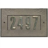 Manchester Cast Aluminum Address Plaque