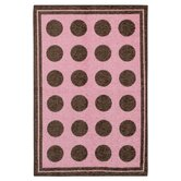 Woodgrain Pink Fluffy Kids Rug