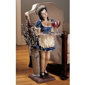 Genevieve the Buxom French Maid Pedestal Sculptural Table