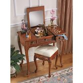 Princess Caroline Vanity Table in Mahogany