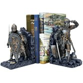 Arthurian Knight Bookend in Two-Tone Metallic (Set of 2)
