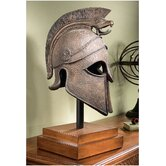 Macedonian Battle Helmet Museum Sculpture in Antique Bronze
