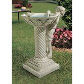 Summer's Splash Birdbath Statue