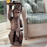 Moroccan Monkey Butler Sculptural End Table