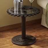 Industrial Age Gears End Table