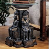 Ramses II Egyptian Sculptural End Table