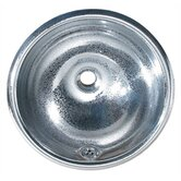 Decorative Drop-in Round Crackle Textured Basin