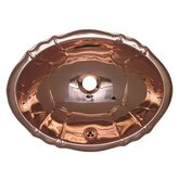 Decorative Drop-in Smooth Oval Fluted Design Basin