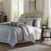 Tradewinds 6 Piece Duvet Set in Blue