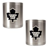 NHL 2 Pieces Stainless Steel Can Holder Set- Primary Logo