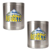 NBA 2 Piecse Stainless Steel Can Holder Set - Primary Logo