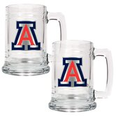 NCAA 15oz Glass Tankard 2 Piece Set