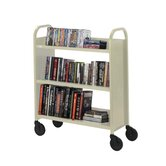 "Book Truck, 3 Shelves, 5"" Cast, 2 Locking, 36""x18""x44"", PY"
