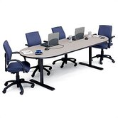 42&quot; Deep Race Track Conference Table - Two Grommet Holes