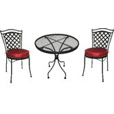 Charleston 3 Piece Ice Cream Dining Set