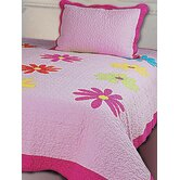 Daisy Crazy 3 Piece Full Quilt Set