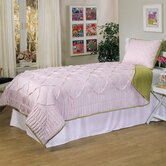 Princess Pearl Comforter Set in Pink / Lime