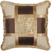 St. Lucia Pillow with Pleated Fabric Trim