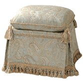 Savannah Storage Vanity Stool with Cord, Tassel Trim and Tassels
