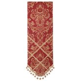 Bacara Table Runner with Braid and Tassel Trim
