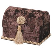 Bacara Envelope Chest with Button Knot, Tassel and Cord, Lined