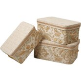 St. Lucia Largest Storage Box with Handles and Braid and Cord  (Set of 3)