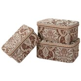 Vellore Storage Box with Handles and Braid and Cord (Set of 3)