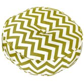 Zig Zag Fabric Round Floor Pillow