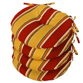 Outdoor Round Bistro Chair Cushion (Set of 4)