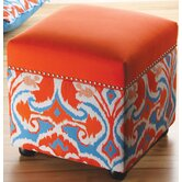 Ikat Storage Cube Ottoman